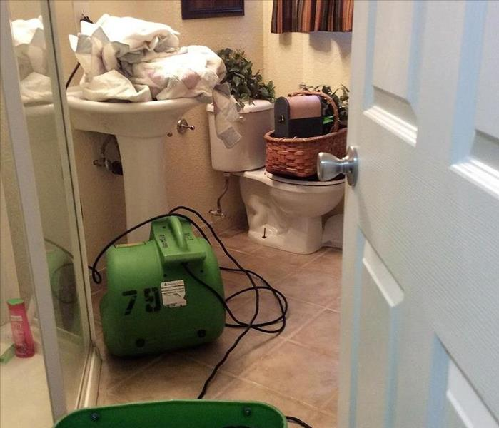 Toilet leaked and flooded bathroom in Woodland Park, CO Before