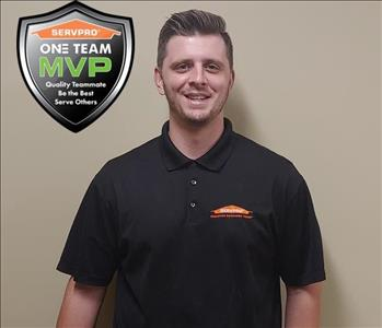 Male employee, short brown hair, Austin Green SERVPRO North Central Colorado Springs