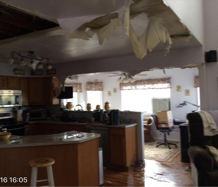 Ceiling Damage from Broken Water Pipe